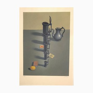 Still Life with Lemon Lithograph by Georges Rohner