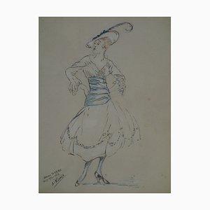 Disegno Niçoise Année Terrible di Léon Biteau, 1915