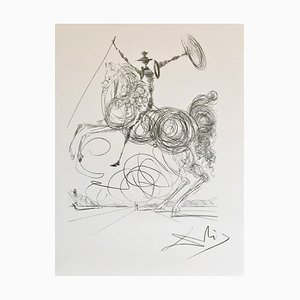 Don Quichotte Lithograph Reprint by Salvador Dali