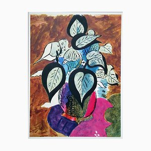 Coloured Foliage Color Lithograph Reprint by Georges Braque, 1955