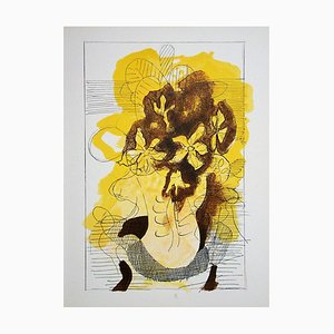 Yellow Vase Lithograph Reprint by Georges Braque, 1955