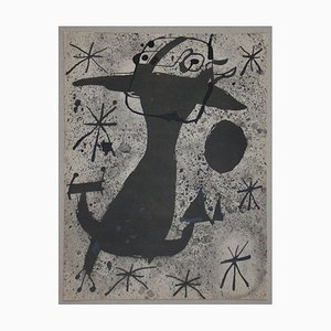Character in the Night Lithograph with Stencil Reprint by Joan Miro, 1967
