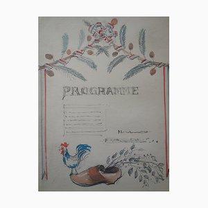 Program Aquarell von Gustave Poetzsch