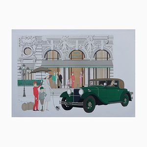 Mercedes 370K Lithograph by Denis-Paul Noyer