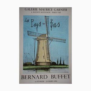 The Netherlands: The Windmill Lithograph by Bernard Buffet, 1986