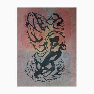 La Danse de l'Arc-en-ciel Holzschnitt von Le Hang Sung, 1982