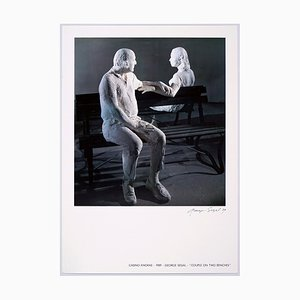 Couple on Two Benches Poster by George Segal, 1989