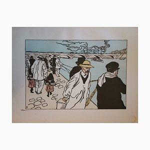 Pêcheurs à la Ligne Lithograph by Ch. Huard, 1897