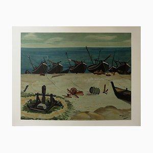 The Small Harbour Radierung von André Derain, 1951