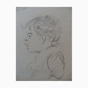 Tête d'un Enfant Drawing by Georges Manzana-Pissarro