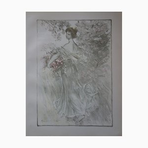 Printemps Lithograph by Maurice Eliot, 1897