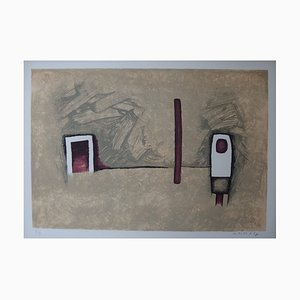 Corner of the Door Lithograph on Stone by WITOLD-K