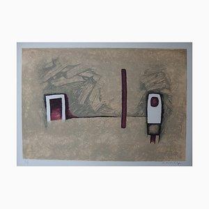 Corner of the Door Stein Lithographie von WITOLD-K
