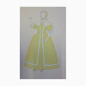 Costume d'Infante Zeichnung von Suzanne Lalique