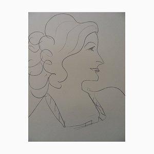 Woman in Profile Lithografie Reprint von Henri Matisse
