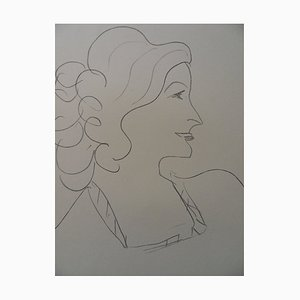 Woman in Profile Lithograph Reprint by Henri Matisse