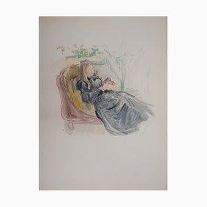 Litografia Jeune Femme di Berthe Morisot, 1946
