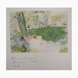 Au Bois de Boulogne Lithograph Reprint by Berthe Morisot, 1946
