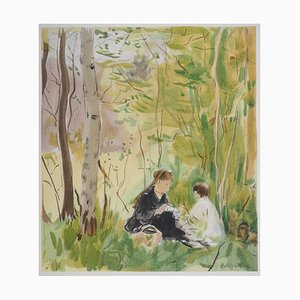 Le Goûter Lithograph Reprint by Berthe Morisot, 1946