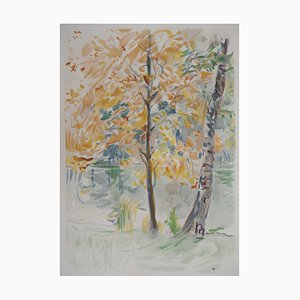 Litografia Autumn di Berthe Morisot, 1946