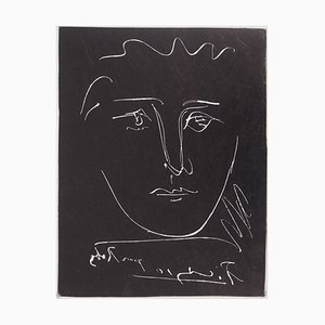 Face for Roby Etching Reprint by Pablo Picasso, 1950
