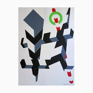 Serigrafia Kinetic Composition di Allan D'Arcangelo, 1970
