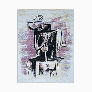 XXe Siècle Lithographie von Wifredo Lam, 1974