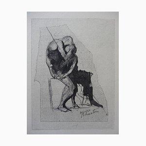 Incisione Icarus e Phaeton di Auguste Rodin