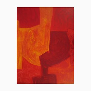 Composition Rouge Lithograph by Serge Poliakoff