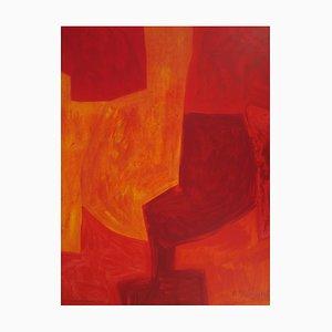 Litografia Composition Rouge di Serge Poliakoff