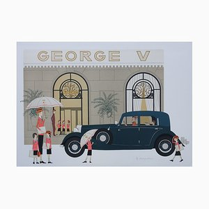 Mercedes 370K George V Lithograph by Denis-Paul Noyer