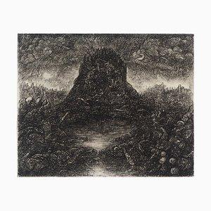 Incisione La Montagne éphémère di Georges Rubel