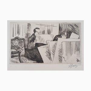 Les Amateurs d'estampes Engraving by Pierre Gatier