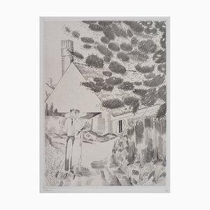 Le Chemin de la Forêt Radierung von Jean-Emile Laboureur
