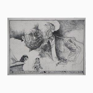 Gravure Dialogue en Miroir par Sergio Aquindo