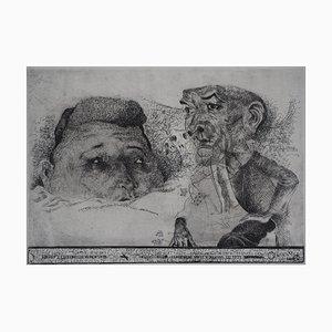 Sergio AQUINDO : Stupid tears - Gravure originale signée