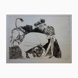 La Passe du Torero Engraving by Bernard Lorjou