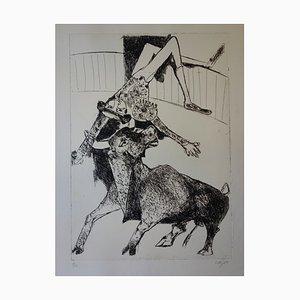Torero Encorné Engraving by Bernard Lorjou