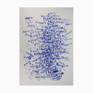 Dans le Brouillard des Shiffres Silkscreen Print by Cozette de Charmoy