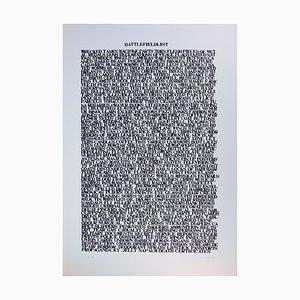Lettrisme de Guerre Silkscreen Print by Cozette de Charmoy