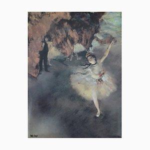 Ballerina l'Etoile Screenprint Reprint by Edgar Degas