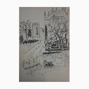 Château Romantique Drawing by Jules Cavaillès