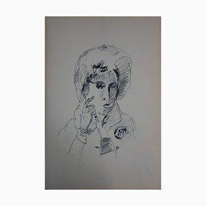 Portrait einer Frau Zeichnung von Jules Cavaillès