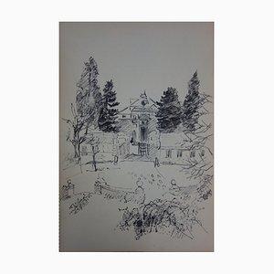 Villa au Sein du Jardin Drawing by Jules Cavaillès