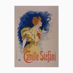 Jules Chéret : Camille Stefani - lithographie originale signée, 1897