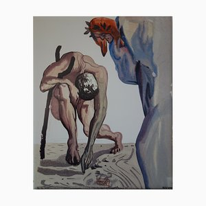 The Princes of The Flowery Valley Screenprint Reprint by Salvador Dali