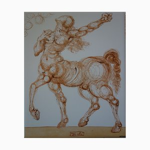The Centaur Screenprint Reprint by Salvador Dali