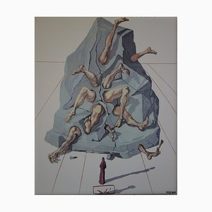 The Simioniacs Screenprint Reprint by Salvador Dali