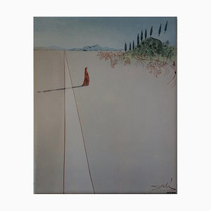 Salvador DALI (after) - Departure for the great journey, signed screenprint - 490 copies