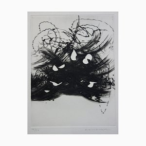 Julius BALTAZAR - Agitated Abstraction, Original signed etching